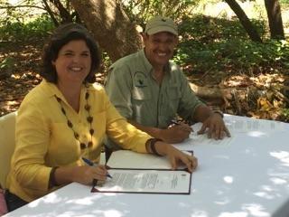 Firman acuerdo DRNA y Corredor del Yaguazo